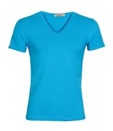 Мъжка тениска slim fit ЛЕКСУС петрол