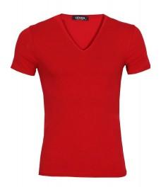 Мъжка тениска slim fit ЛЕКСУС червена
