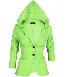 Дамско сако БАЛИЗА В - 4  зелен неон меланж