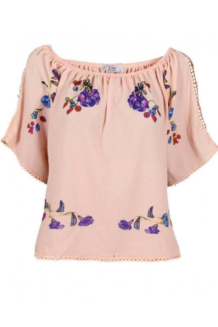 Дамска блуза ПАРМА ябълков цвят