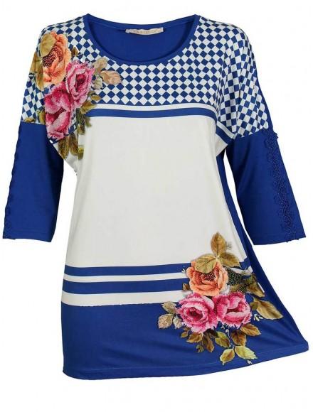 Дамска блуза РОСАЛИ  кралско синя