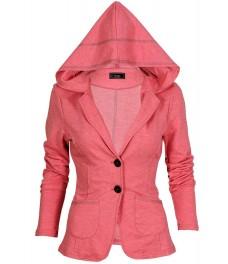 Дамско сако БАЛИЗА В - 4 бонбонено розов  меланж