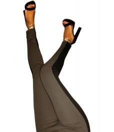 Дамски клин - панталон РОМА черен с визон