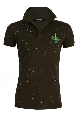 Блуза с якичка Slim fit А - 608 зелена