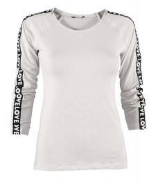Дамска блуза ФИТ ЛАВ бяла