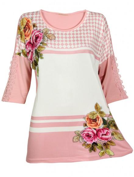 Дамска блуза РОСАЛИ розова