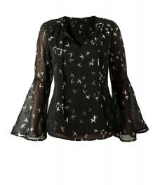Дамска блуза БЪРДС черна