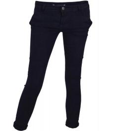 Дамски чино панталон F8870 тъмно син