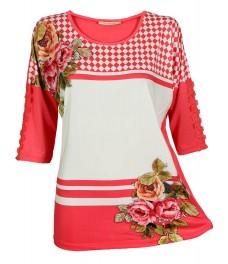 Дамска блуза РОСАЛИ  цвят диня