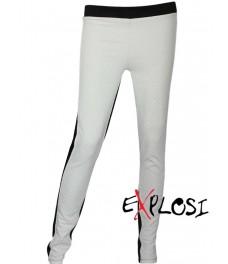 Дамски клин - панталон РОМА черен с бяло