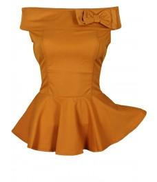 Блуза РОМАНТИКА цвят горчица