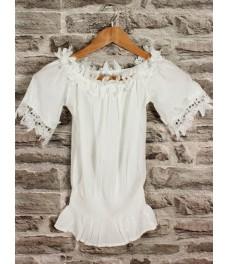 Дамска блуза РОМАНТИКА В-1 бяла