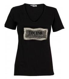 Тениска THE END черна