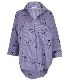 Дамска риза 2353 синьо райе