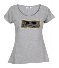 Тениска THE END сива