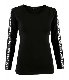 Дамска блуза ФИТ ЛАВ черна