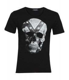 Мъжка тениска slim fit  СКУЛ черна