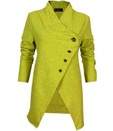 Дамско сако РИНО А-1 жълтозелен неон меланж
