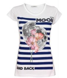 Дамска блуза МУУН бяла