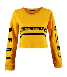 Дамска блуза РИАЛ жълта