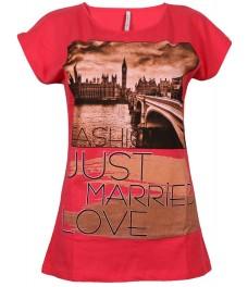 Дамска блуза 390 цвят диня