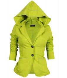 Дамско сако БАЛИЗА В - 4  жълто - зелен неонов меланж 999