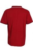Макси блуза с якичка 5673 цвят бордо