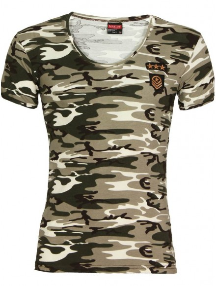 Мъжка тениска slim fit  090