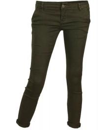 Дамски чино панталон F8870 зелен