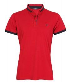 Блуза с якичка 7615 цвят диня
