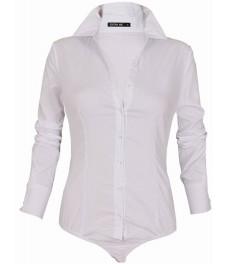 Дамска риза боди G 7261 бяла