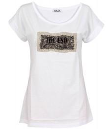 Тениска THE END бяла