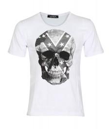 Мъжка тениска slim fit  СКУЛ бяла
