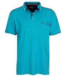 Макси блуза с якичка 5673 цвят петрол