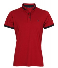 Блуза с якичка 7615 червена