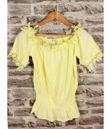 Дамска блуза РОМАНТИКА В-1 жълта