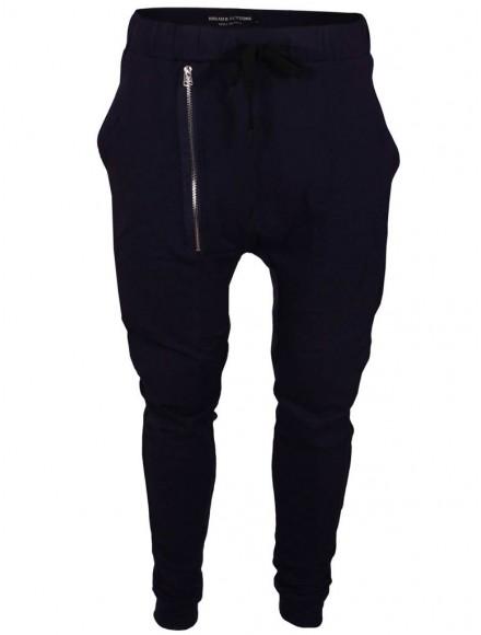 Панталон от трико 9206 тъмно син