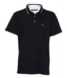 Макси блуза с якичка 5673 цвят тъмно син