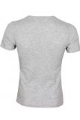 Мъжка тениска slim fit ЛЕКСУС сива