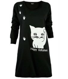 Туника  HAPPY CAT А - 1 черна
