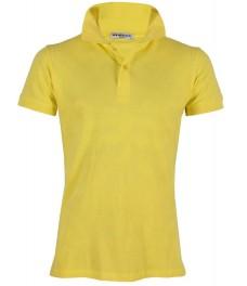 Блуза с якичка Slim fit А125 жълта