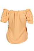 Дамска блуза ПЕРЛА ябълков цвят
