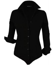 Дамска риза боди G 7203 черна сет08