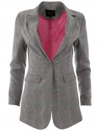 Дамско сако МАСИМО A-2 каре с розова подплата
