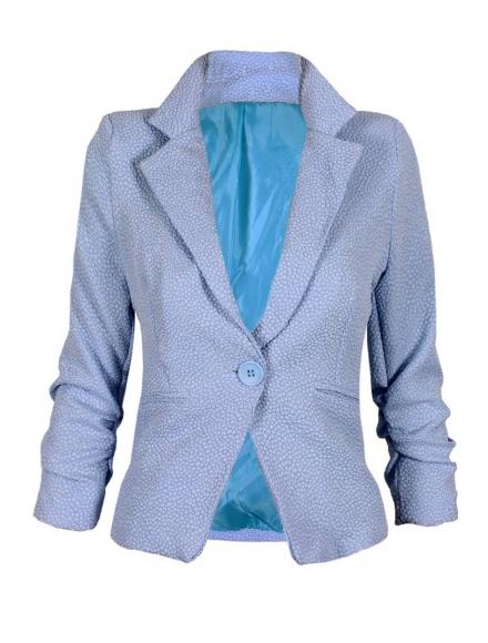 Дамско сако МОНТЕ КАРЛО светло синьо