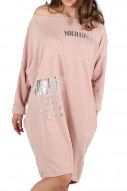 Свободна дамска рокля CAPRICE розова