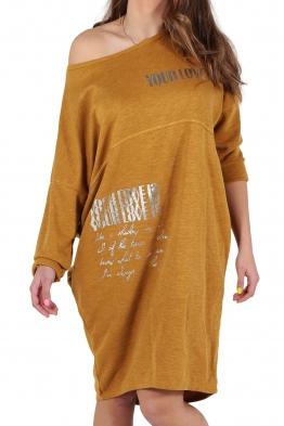 Свободна дамска рокля CAPRICE горчица