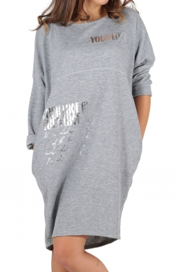 Свободна дамска рокля CAPRICE сива