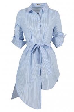 Дамска риза - туника 2573 синьо райе