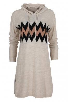 Дамска туника - рокля 519 бежова